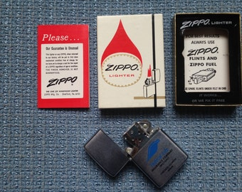 ZIPPO 1970S lighter, Federal Life Insurance Company monogram, Unlit, New in Box