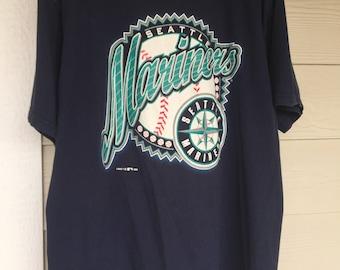 Vintage Seattle Mariners Baseball T-Shirt XL 1996 era