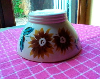A lovely Sunflower bowl - French vintage Digoin Sarreguemines bowl