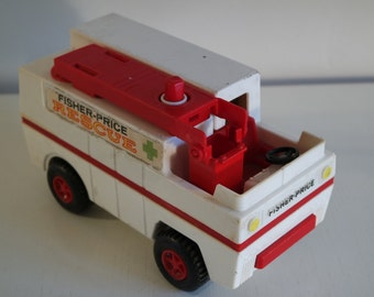 "Vintage 1974 Fisher Price ""Fire rescue"" truck"