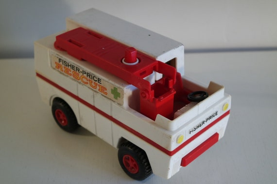 camion fisher price fire rescue vintage 1974. Black Bedroom Furniture Sets. Home Design Ideas