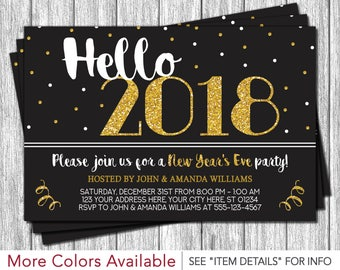 New Year S Eve Party 2017 2018 Invitation Christmas