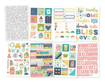"""Domestic Bliss Stickers 4""""X6"""" 285/Pkg Simple Stories (7825)"""
