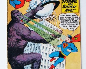 1960 Superman DC Comic Book Featuring Titano the Super-Ape! No. 138