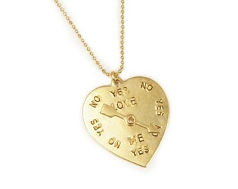 Love compass necklace