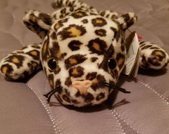 Ty The Beanie Babies, Freckles The Leopard 1996 Style 4066 RARE DOB 6. 3. 96.