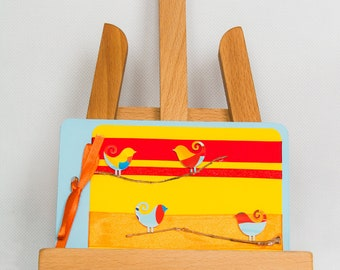 Personalised spring handmade greeting card (matching envelope)