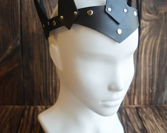 Leather Crown, King Crown, Queen Crown, Ajustable Crown, Women Crown, Man Crown