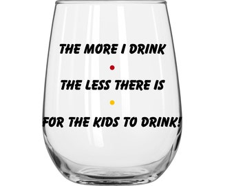 DIY Decal - The More I Drink The Less There Is For The Kids To Drink- Friends TV Show