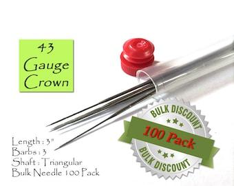 43 Gauge Crown felting needles - Bulk - Great for fine work, adding eyebrows, eyelashes and hair on reborn dolls