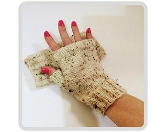 Men's knitted gloves, fingerless gloves, knitted gloves, rustic style, vegan gloves, vegan fashion, men's fashion, gift for men