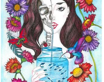 Bring me to life - A3 Original artwork