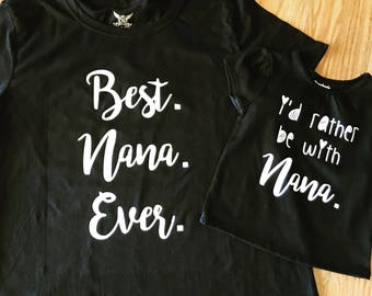 Nana and me shirt set!