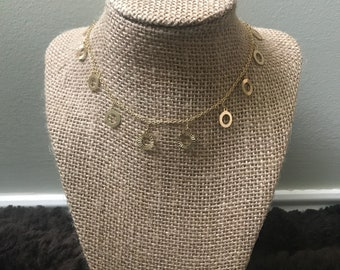 Gold Textured Dangle Choker