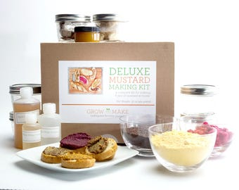 Deluxe DIY Mustard Making Kit - learn how to make home made mustards