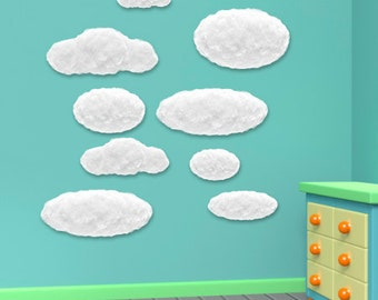 Wall decals clouds A102 - Stickers nuages A102