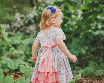 Jeanette's Ruffle Back Knit Dress PDF Pattern Sizes 6/12m to 8 girls