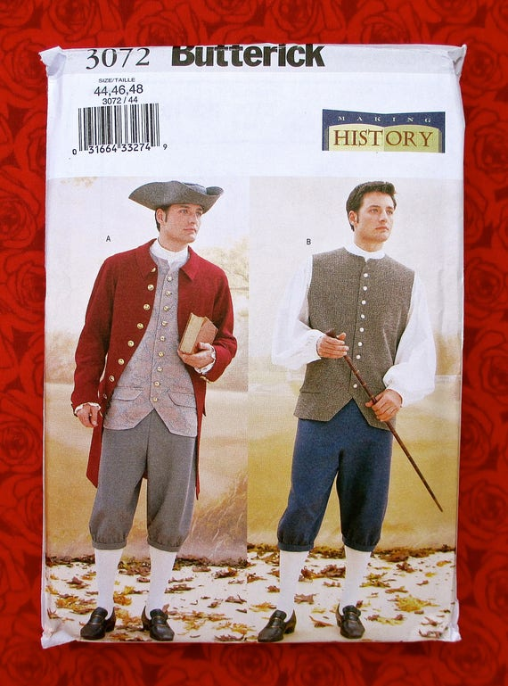 Butterick Sewing Pattern 3072 Men\'s Historical Costumes