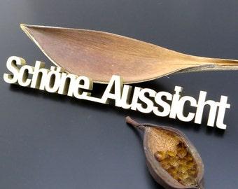Schöne Aussicht - wood lettering size M