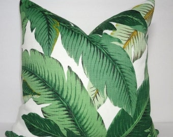 SIZZLING SUMMER SALE Outdoor/Indoor Palm Tree Pillow Cover Tommy Bahama Swaying Palms Pillow Cover Deck Porch Choose Size
