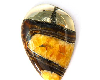 Simbercite or Simbircite Pyrite Agate Designer Cabochon 40.4x60.5x8.7 mm 169.5 carats Free Shipping