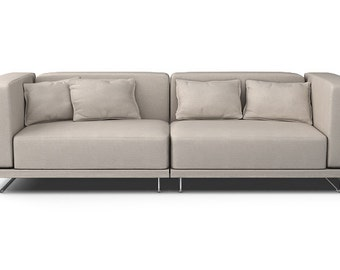 IKEA Tylosand 3 Seater Sofa SLIPCOVER ONLY In Lino Brushed Fabric