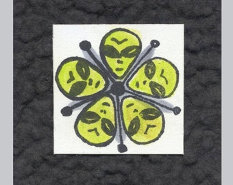Rubber Stamp Alien Circle