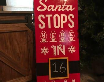 Santa Stops Here In
