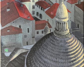 A view from Chathédral - Acrylic Painting