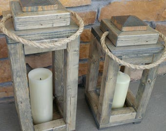 Wood Indoor/Outdoor Lantern