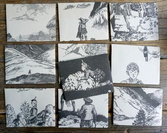 Wee Gillis - recycled book pages into envelopes