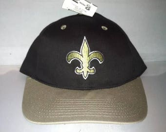 Vintage New Orleans Saints Snapback hat cap rare 90s NFL Football deadstock drew brees