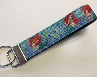 Ariel the Little Mermaid Bubbles Key Fob Keychain wristlet
