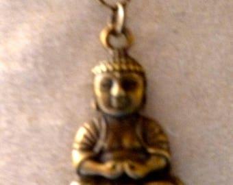 bronze small meditation Buddha pendant