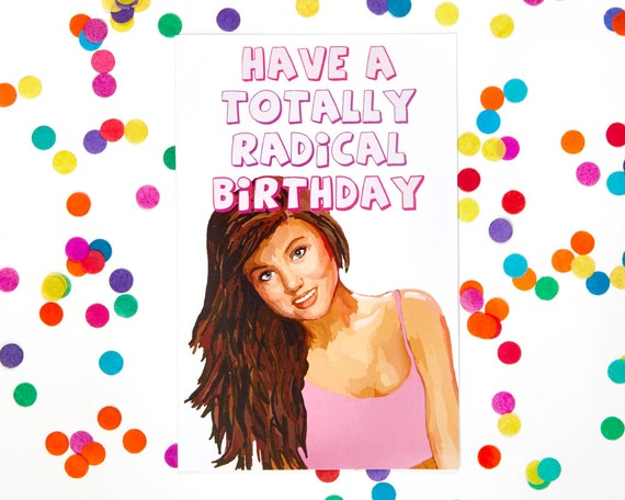 Saved by the bell birthday card kelly kapowski 80s card 90s bookmarktalkfo Image collections