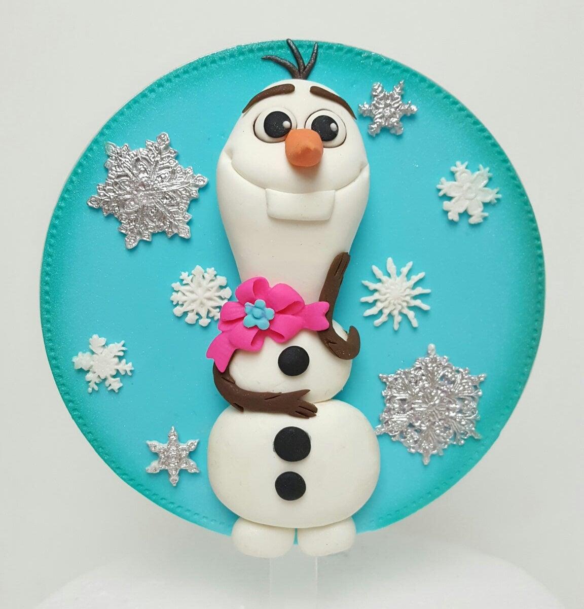 Fondant Cake Topper: Inspired Olaf Frozen Cartoon