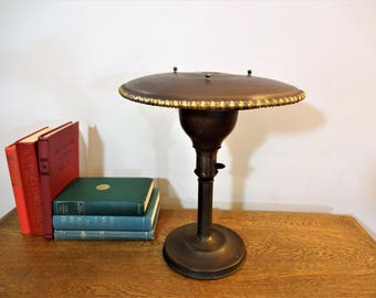 M. G. Wheeler Co - Sight Light Desk Lamp ~ Machine Age 1930s Style ~ Art Deco ~ Flying Saucer Lamp ~ M. G. Wheeler Co. - UFO Lamp