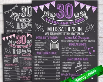 30th birthday board Etsy