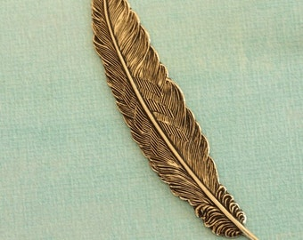 Antique Brass 3 1/2 Inch Feather 536B