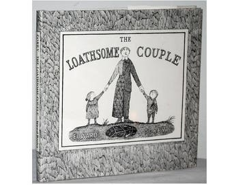SIGNED by Edward Gorey, The Loathsome Couple. Illustrated. First printing, 1993. Hardcover book in dust jacket.