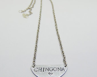 Chingona necklace (chingona, latinx, feminist)