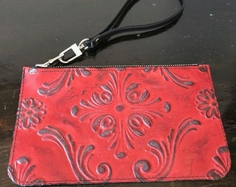 """Leather Pouch 7 1/2x4 1/2"""""""
