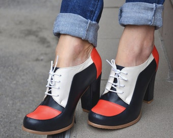 Sitges - Oxford Pumps, Womens Oxfords, Casual Shoes, Oxford Heels, Leather Shoes, Custom Shoes, FREE customization!!!!
