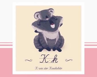 Tier-ABC - K wie Koalabär