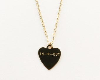 In-N-Out Heart Charm Necklace