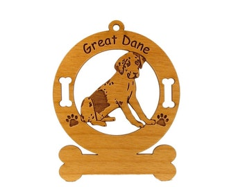 3292 Great Dane Uncropped Personalized Ornament