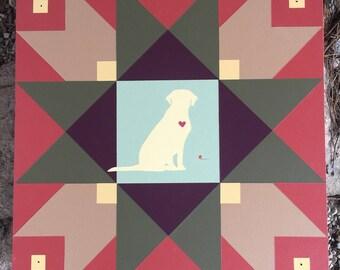 Labrador Retriever Barn Quilt