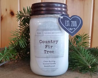 Country Fir Tree Candle// All Natural Soy Candle// Fir Tree Candle// Woods Candle// Tree Candle// Man Candle// Pine Candle
