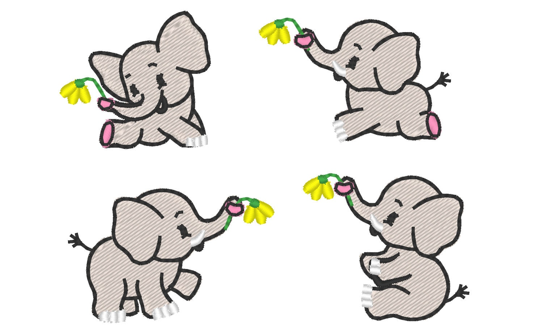 Mini kleine elefanten 4 arten instant download for Kleine teichfische arten