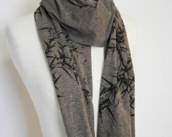 Bamboo brown melange wrap scarf